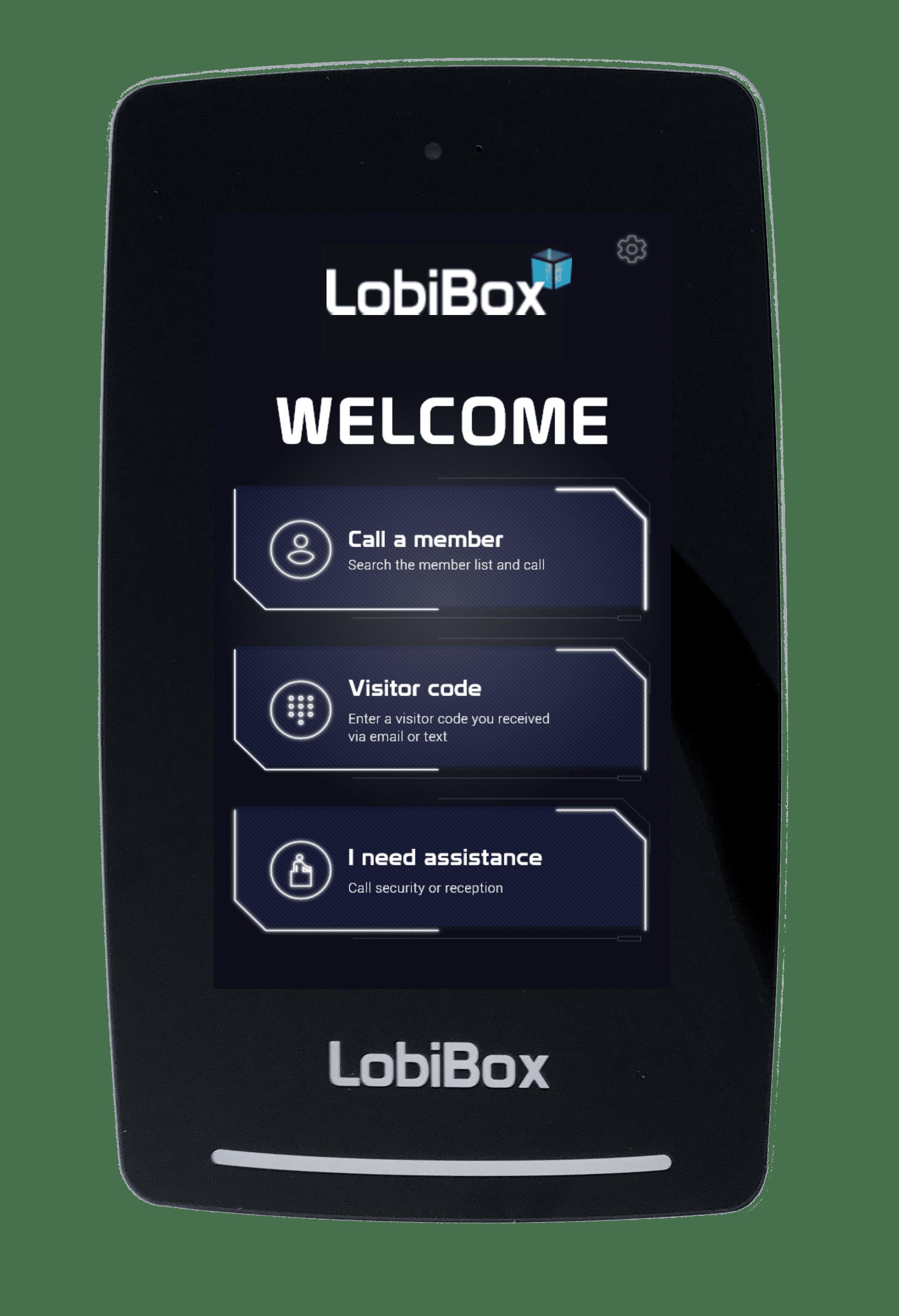 LobiBox Welcome Screen