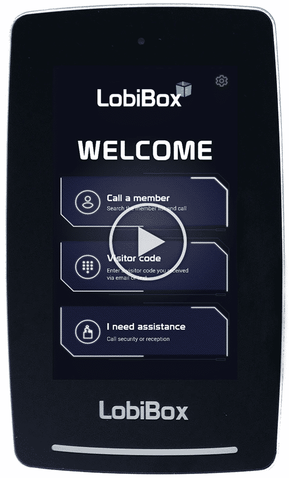 Lobibox Welcome Screen With Play Button