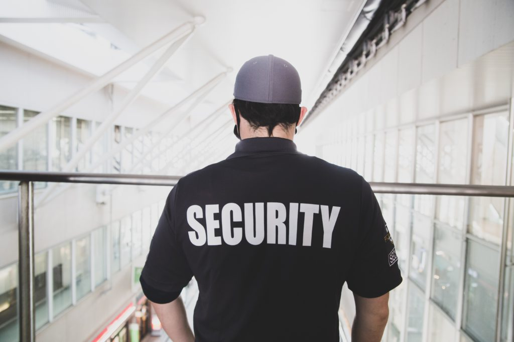 Security Guard Overseeing Building