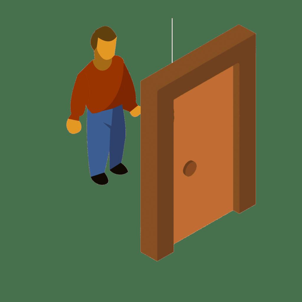 video intercom calls tenant to verify guest